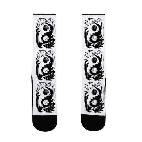 Dungeons and Dragons Yin Yang Sock