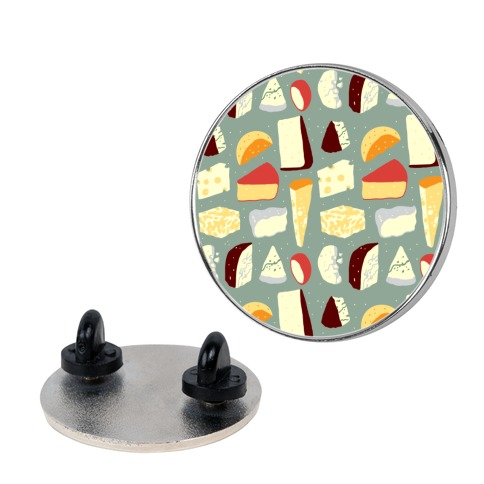 Cheese Pattern Pin