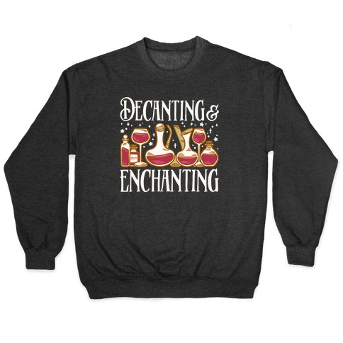 Decanting & Enchanting White Print Pullover
