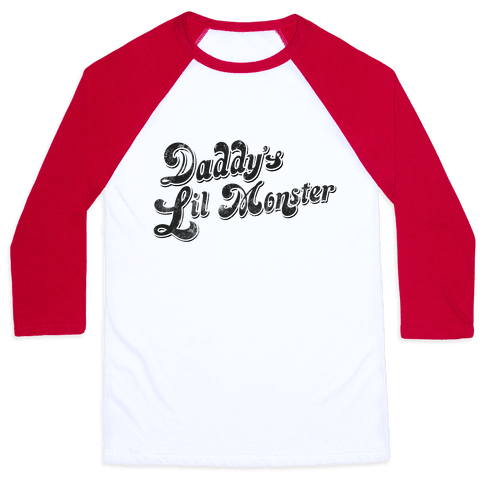 Daddy's Lil Monster Baseball Tee