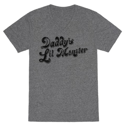 Daddy's Lil Monster V-Neck Tee Shirt