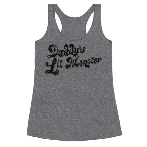 Daddy's Lil Monster Racerback Tank Top