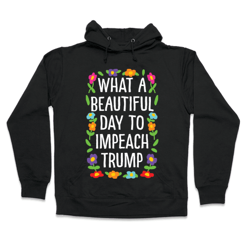 What A Beautiful Day To Impeach Trump Hooded Sweatshirt