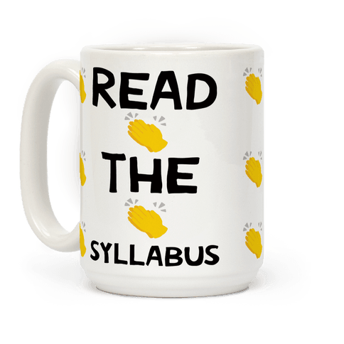 Read The Syllabus Clap Emoji Coffee Mug