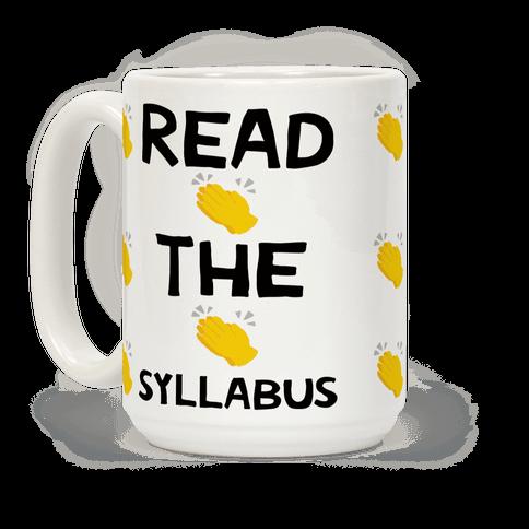Read The Syllabus Clap Emoji Coffee Mug
