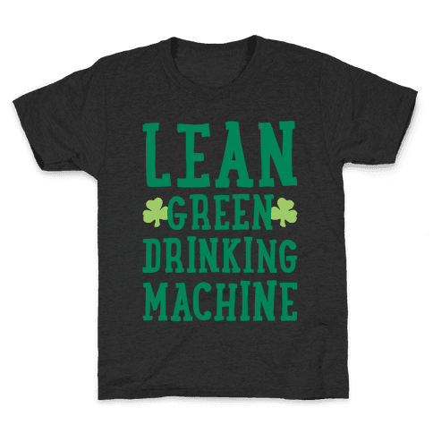Lean Green Drinking Machine White Print Kids T-Shirt