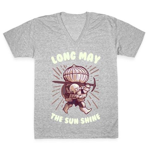Siegward: Long May The Sun Shine V-Neck Tee Shirt