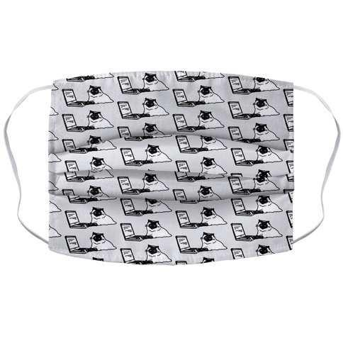 Purrr My Last Email Cat Parody Face Mask Cover
