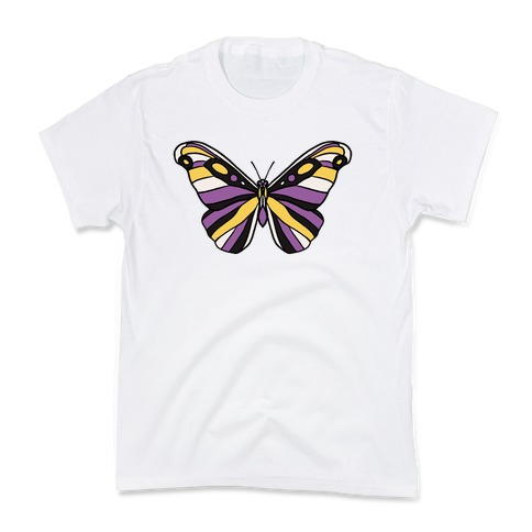 Non-binary Butterfly Kids T-Shirt