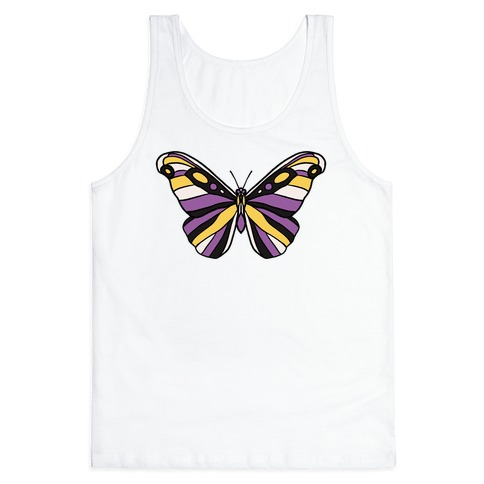 Non-binary Butterfly Tank Top