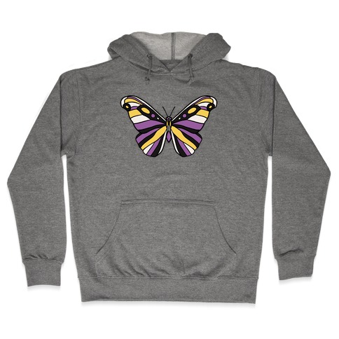Non-binary Butterfly Hooded Sweatshirt