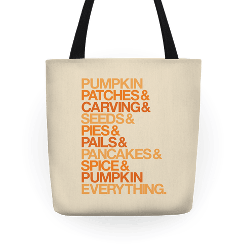 Pumpkin Patches & Carving & Pumpkin Everything Tote
