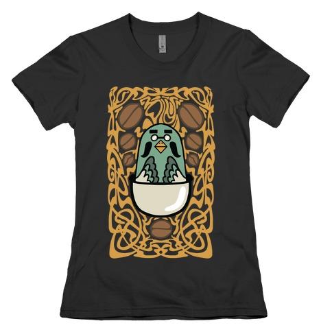 Art Nouveaux Coffee Pigeon Womens T-Shirt
