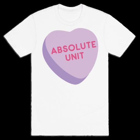Absolute Unit Candy Heart Mens T-Shirt