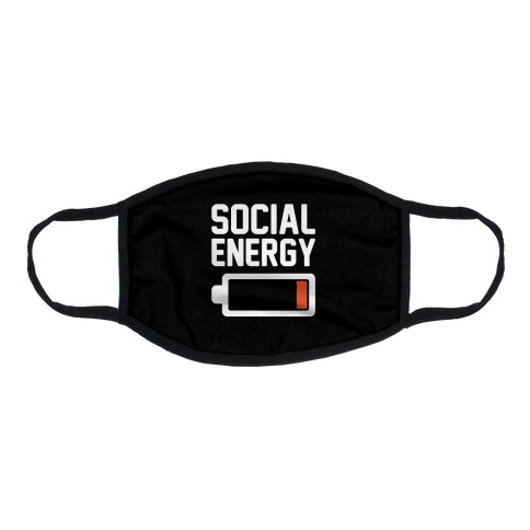 Social Energy Low  Flat Face Mask