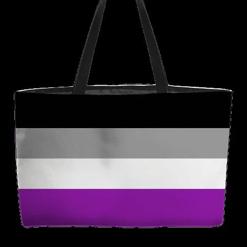 Asexual Pride Flag Weekender Tote