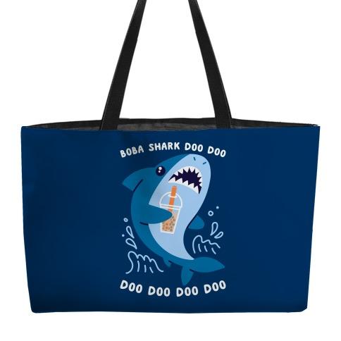 Boba Shark Weekender Tote