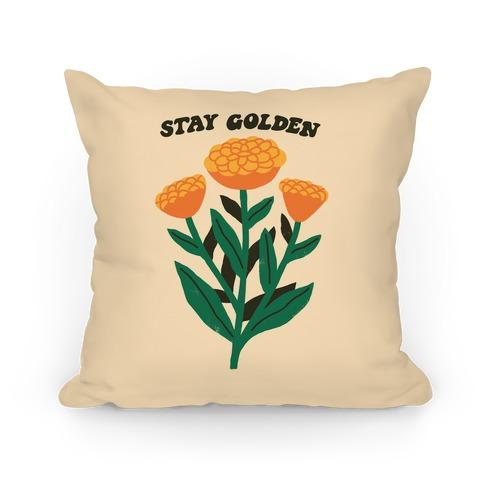 Stay Golden Marigolds Pillow