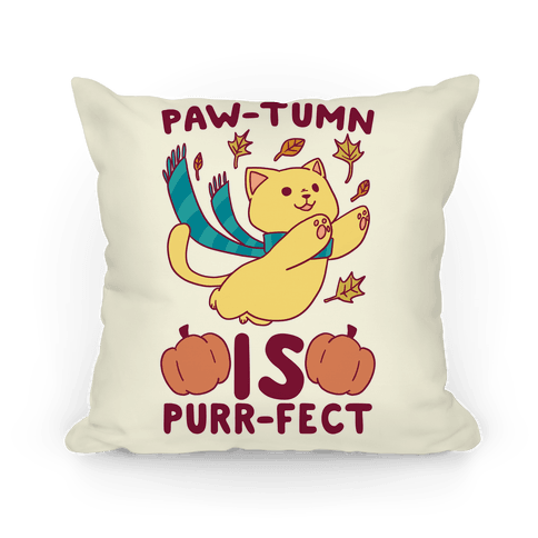 Paw-tumn is Purrfect Pillow