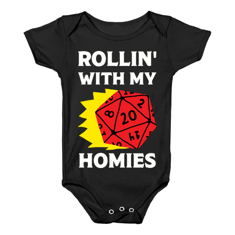 Rollin' With My Homies D&D Baby Onesy