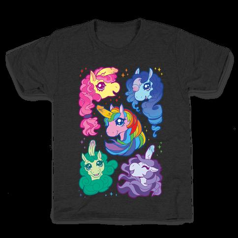 Unicorn Penis Pattern Kids T-Shirt