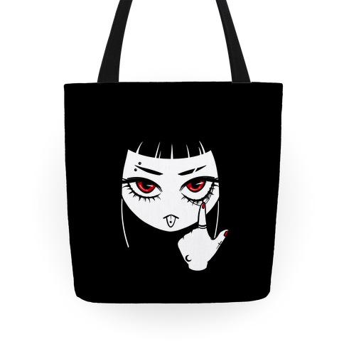 Goth Girl (face only) Tote