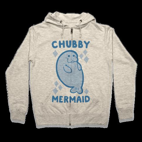 Chubby Mermaid Zip Hoodie