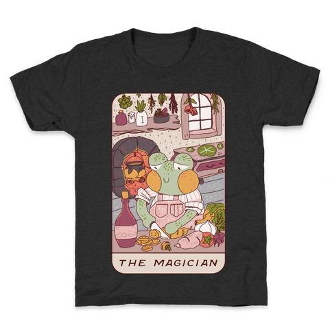 Cottagecore Magician Tarot Card Kids T-Shirt