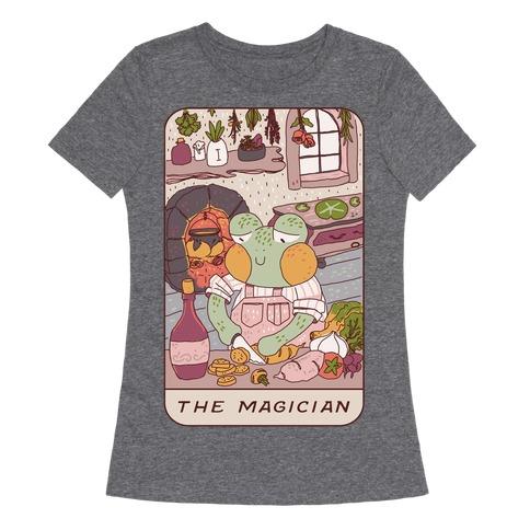 Cottagecore Magician Tarot Card Womens T-Shirt