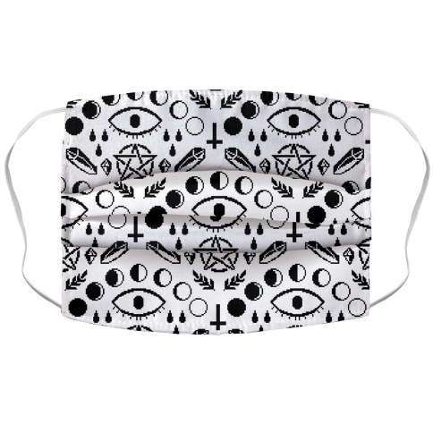 Occult Pixel Pattern Accordion Face Mask