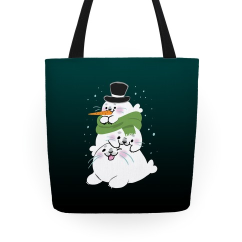 Seal Stack Snowman Tote