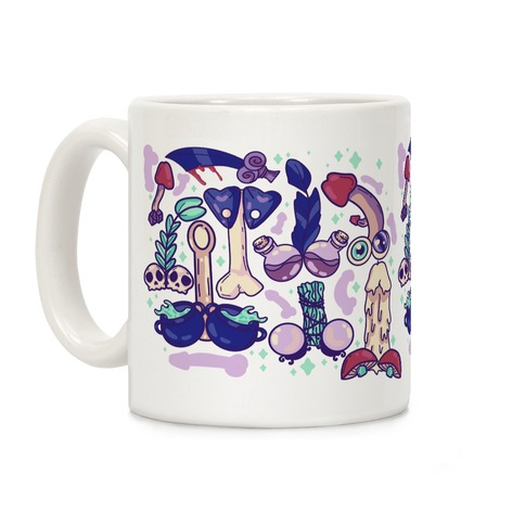 Phallic Witchy Things Pattern Coffee Mug