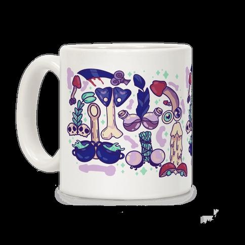 Phallic Witchy Things Pattern Coffee Mug
