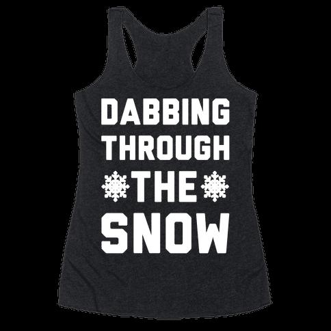Dabbing Through The Snow  Racerback Tank Top