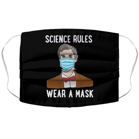 Science Rules Wear A Mask Accordion Face Mask