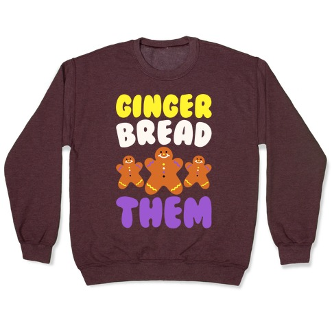 Ginger Bread Them White Print Pullover