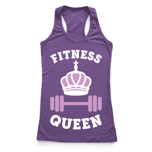 Fitness Queen (White) Racerback Tank Top