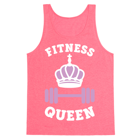 Fitness Queen (White) Tank Top