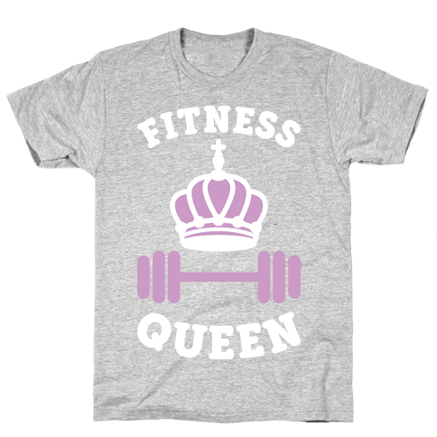 Fitness Queen (White) Mens T-Shirt