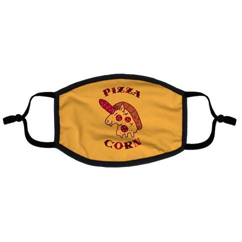 Pizzacorn Flat Face Mask