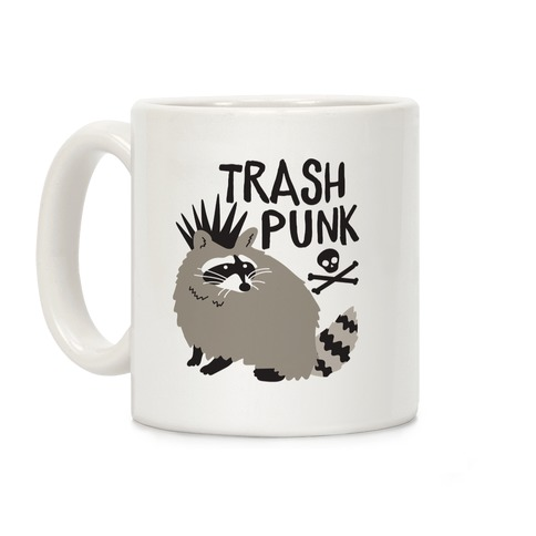 Trash Punk Raccoon Coffee Mug