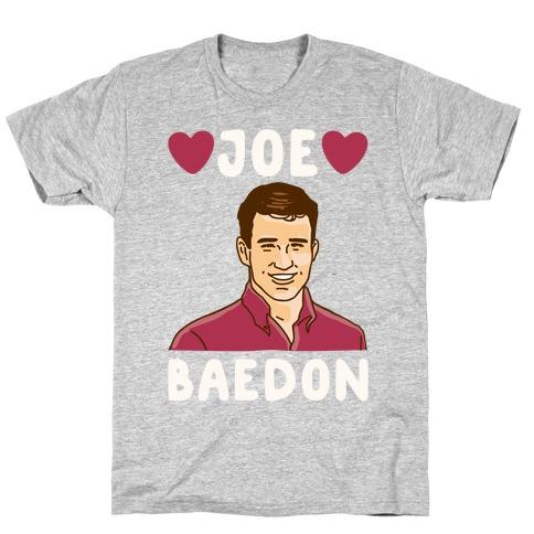 Joe Baedon Parody White Print T-Shirt