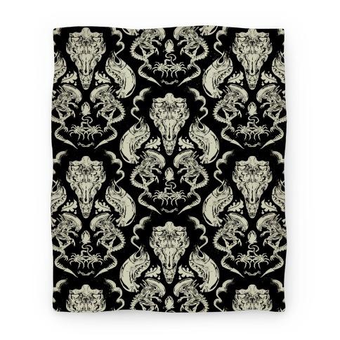 Xenomorph Blanket Blanket