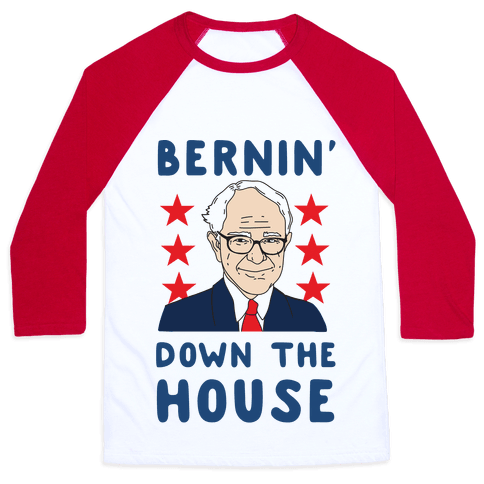 Bernin' Down the House Baseball Tee