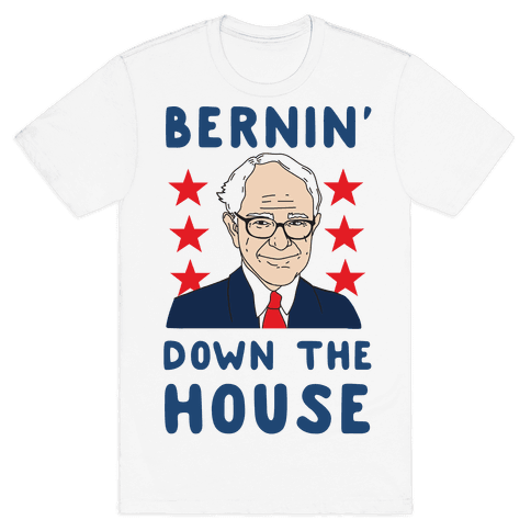 Bernin' Down the House Mens T-Shirt