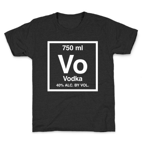 Vodka Element (Periodic Alcohol) Kids T-Shirt
