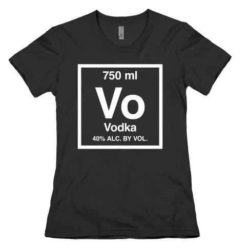 Vodka Element (Periodic Alcohol) Womens T-Shirt