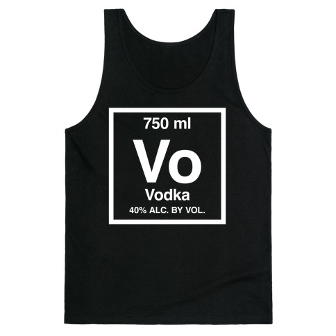 Vodka Element (Periodic Alcohol) Tank Top