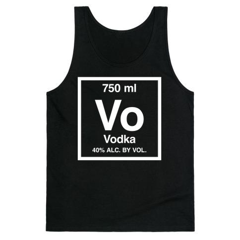 Vodka Element (Periodic Alcohol) Tank Top