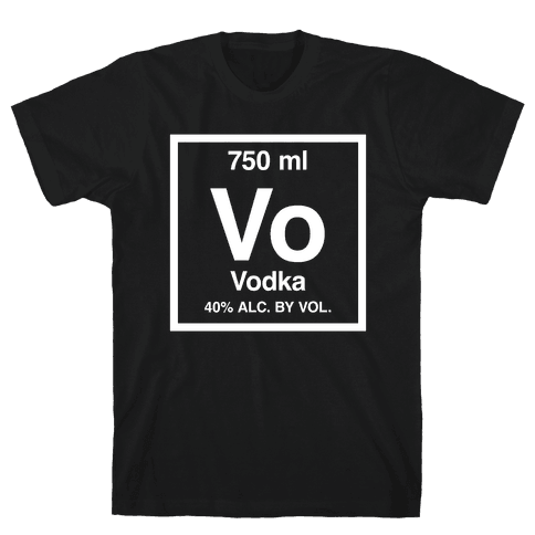 Periodic table t shirts lookhuman vodka element periodic alcohol mens t shirt urtaz Images